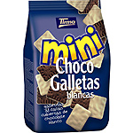Tirma mini choco galletitas al cacao cubiertas chocolate blanco de 125g. en bolsa