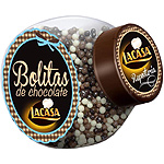 Lacasa bolitas chocolate mix envase de 84g.