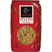 Mini plumas gallo, caja 500 g
