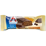 Advantage atkins barrita snacks chocolate con naranja envase de 60g.