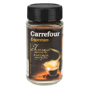Carrefour cafe soluble intenso espresso de 100g.