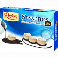 Reglero nevaditos con baño chocolate mini de 220g. en caja