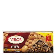 Valor chocolate puro con almendras xl de 300g.