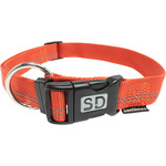 San Dimas collar nailon color naranja medida 25 mm