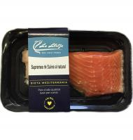 Supremas de salmon natural de 200g.