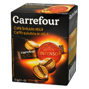 Carrefour cafe soluble intenso en stick de 25g. por 2 unidades