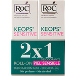 Keops sensitive desodorante roll on sudoración normal alta para pieles sensibles por 2 unidades