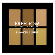 Paleta 6 colores pro correct & concel light/medium freedom
