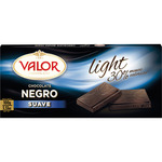 Valor chocolate negro suave light 30% menos calorias tableta de 100g.