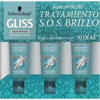 Gliss tratamiento sos million gloss de 20ml. por 3 unidades