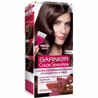 Garnier color sensation tinte castaño luminoso nº 5 0 coloracion permanente intensa pincel gratis en caja