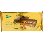 El Corte Ingles turron chocolate con galleta calidad suprema tableta de 300g.