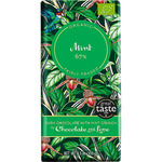 Chocolate and love chocolate negro ecológico con menta 67% de cacao tableta de 100g.
