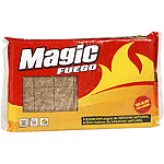 Magic fosforos enciendefuegos madera natural en pastillas sin olor 28 en paquete
