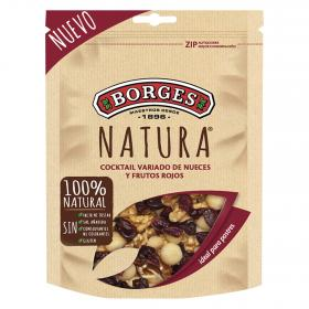 Borges cocktail variado nueces frutos rojos de 120g.