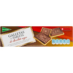 El Corte Ingles galletas con tableta chocolate negro estuche de 125g.