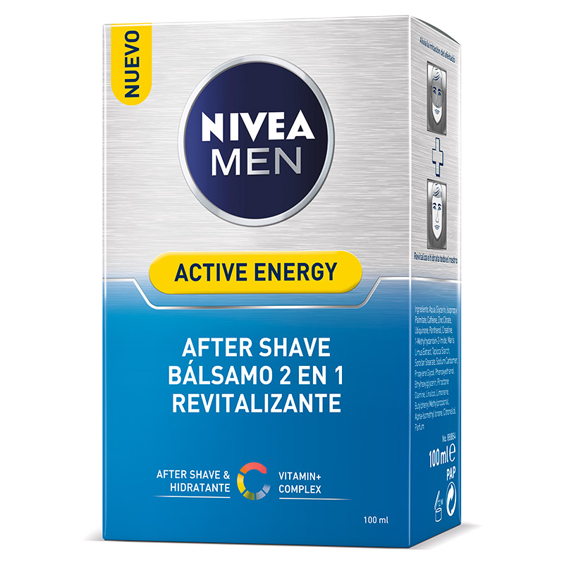 Nivea For Men hombre skin energy after shave q10 revitalizante balsamo doble accion instant effect de 10cl. en bote