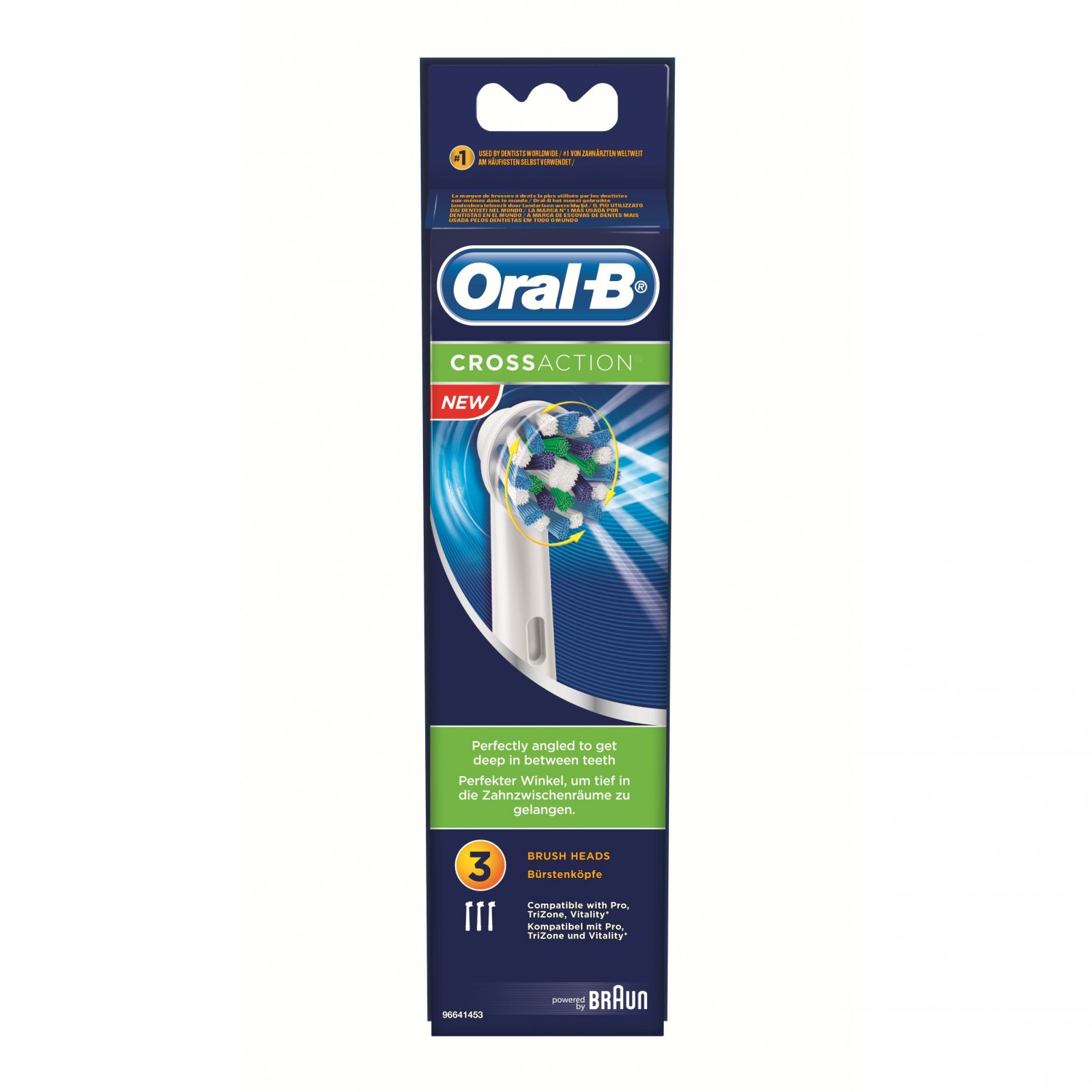 Oral B cabezales recambio cross action blister 3 ud