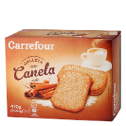 Carrefour galleta con canela de 470g.
