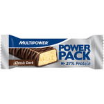 Multipower power pack barrita 27% proteina sabor chocolate negro envase de 35g.