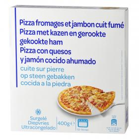 Carrefour Discount pizza jamon queso de 400g.