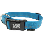 San Dimas collar nailon color azul medida 20 mm