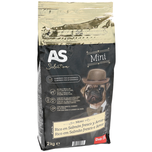 As selection alimento para perros mini rico en salmón de 2kg. en bolsa