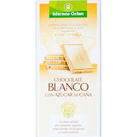 Oxfam chocolate blanco tableta de 100g.