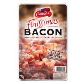 Campofrio bacon ahumado natural finissimas de 140g.