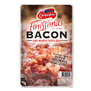 Campofrio finissimas bacon ahumado natural de 140g.
