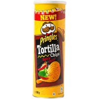 Pringles tortilla spicy chilli tubo de 160g.