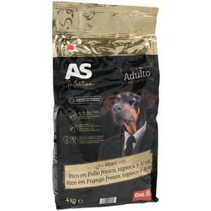 As selection alimento para perros adultos rico en pollo de 4kg. en bolsa