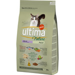 Ultima nature adult alimento completo gatos adultos elaborado con ingredientes naturales salmon fresco de 1,25kg. en paquete