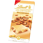 Chocolate blanco con 32% de almendras enteras tableta de 150g.