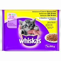 Whiskas junior aves por 4 unidades