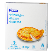 Carrefour Discount pizza 3 quesos de 350g.
