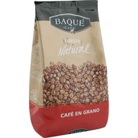 Baqué cafe en grano tueste natural de 500g.