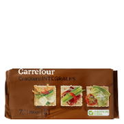 Carrefour crackers integrales de 250g.