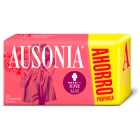 Ausonia compresa absorcion super ultra plegada alas 20