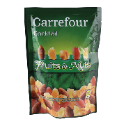 Carrefour cocktail fruit&nuts de 120g.