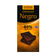 Hacendado chocolate negro 85% intenso tableta de 100g.