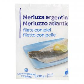 Carrefour Discount filete merluza con piel de 600g.