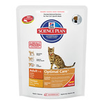 Hill's Science plan adult optimal care alimento especial gatos adultos con pollo un cuidado optimo de 400g. en bolsa