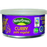Naturgreen pate vegetal curry ecologico de 125g. en tarrina