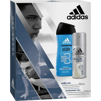 Adidas desodorante adipure for men antitranspirante 24h sin alcohol shower gel after sport 3 en 1 de 25cl. en bote