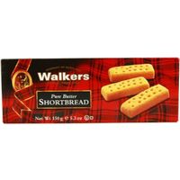 Walkers shortbread fingers galleta mantequilla estuche de 150g.