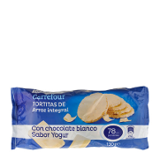 Carrefour tortita arroz integral bañada con yogur de 130g.