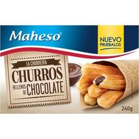 Maheso churros rellenos chocolate de 240g.
