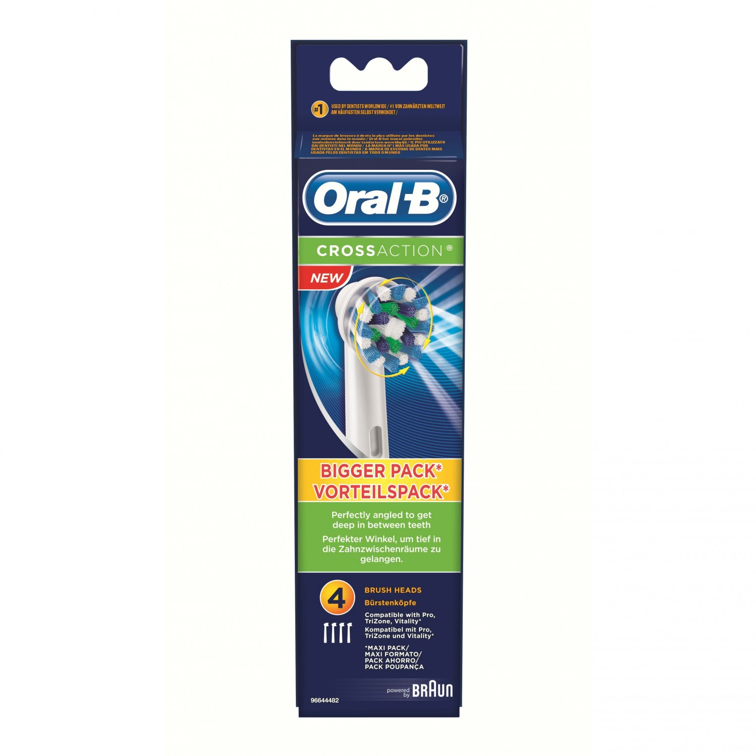Oral B recambio cepillo dental electrico cross action por 4 unidades