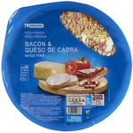 Eroski pizza fresca bacon queso cabra de 375g.